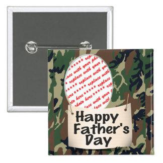 Militärvati - der Vatertags-Memento-Rahmen Buttons