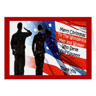 Militärweihnachtskarte Karte