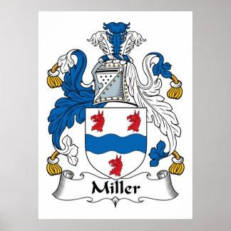Miller-Familienwappen-Plakat Poster