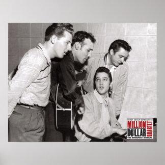 Million Dollar-Quartett-Foto Poster