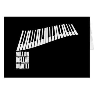 Million Dollar-Quartett-Klavier - Weiß Karte