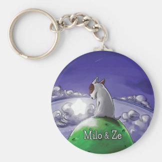 Milo u. Ze Standard Runder Schlüsselanhänger