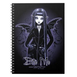 """""""Mina-"""" gotische Blaue beißen mich Notizblock"""