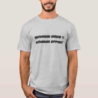 Mindestlohn = minimale Bemühung - besonders T-Shirt