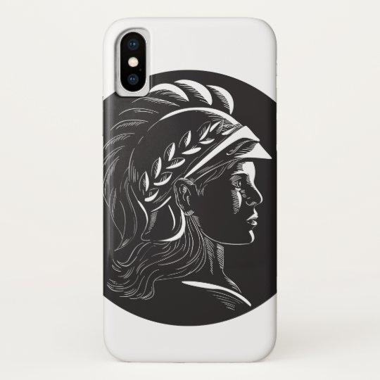 Minerva Hauptseitenprofil-Oval-Holzschnitt Samsung Galaxy Nexus Case