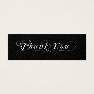 Mini Carte De Visite Étiquette noire et blanche de cadeau de faveur de