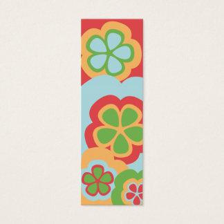 Mini Carte De Visite Rouge de flower power