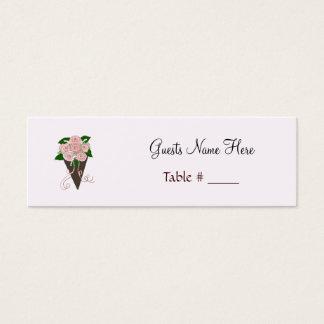 Mini Carte De Visite Support d'endroit de bouquet de mariage