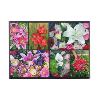 Mini cas de lis d'ipad floral coloré de collage coque iPad mini