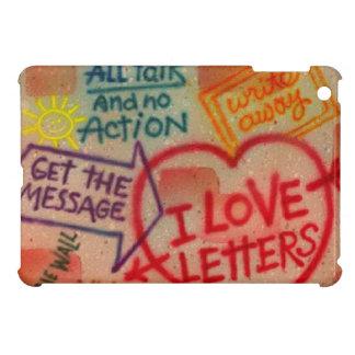 Mini cas de rétro de graffiti d'amour iPad de lett Coques Pour iPad Mini