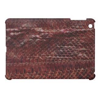Mini cas de serpent d'iPad en cuir d'impression