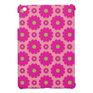 Mini cas d'ipad rose de conception florale coques iPad mini