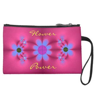 Mini embrayage de flower power pochette avec poignée