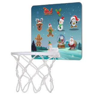 Mini-panier De Basket Bande dessinée de scène de vacances