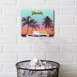 Mini-panier De Basket Coucher du soleil coloré de la Floride