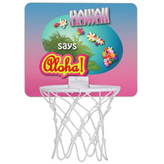 Mini-panier De Basket Hawaï indique Aloha !