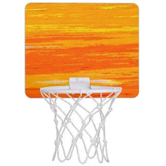 Mini-panier De Basket Mini cercle de basket-ball - orange et jaune rayés