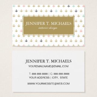 Minianker-Muster Visitenkarte