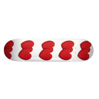 Miniature acrylique de forme de coeur planches à roulettes