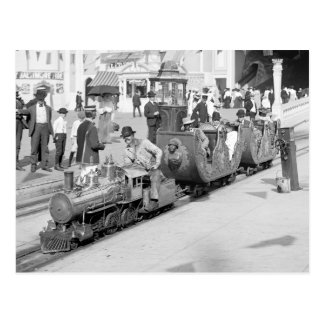 Miniatureisenbahn bei Coney Island, 1905 Postkarte