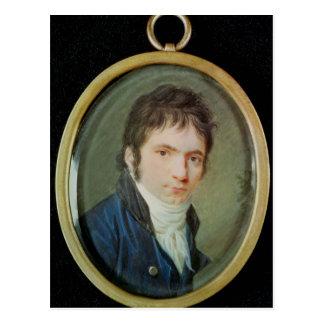 Miniaturporträt von Ludwig van Beethoven, 1802 Postkarte