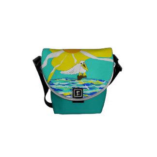 """Minibote-Tasche mit """"dem Pelikan """" Kuriertasche"""