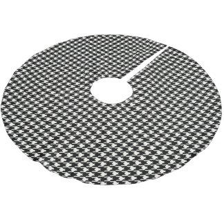 MiniHahnentrittmuster-Muster Schwarzweiss Polyester Weihnachtsbaumdecke