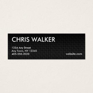 Minikarten der metallischen Webartbeschaffenheit Mini Visitenkarte