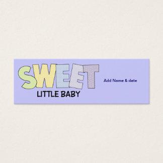 MiniLesezeichen für Baby-Duschen-Gastgeschenk Mini Visitenkarte