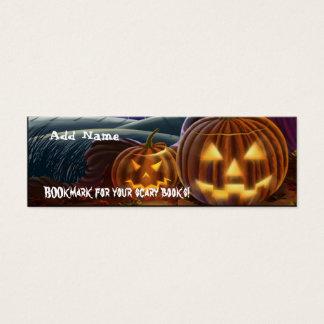 MiniLesezeichen für Halloween-Party-Bevorzugung Mini Visitenkarte