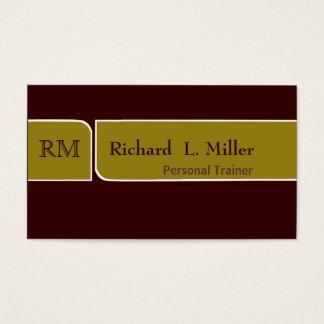 Minimale elegante Salbei-u. Browns zweiseitige Visitenkarten