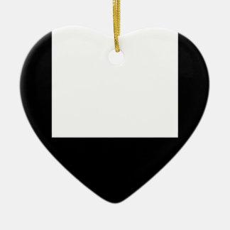 Minimale Entwurfs-Schwarz-Rahmen-Herz-Verzierung Keramik Ornament