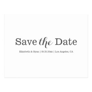 Minimale Save the Date Postkarte