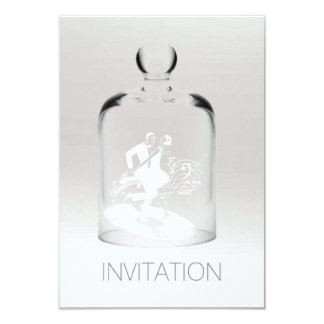 Minimale weiße graue silberne Ombre Glas-Tänzer Karte