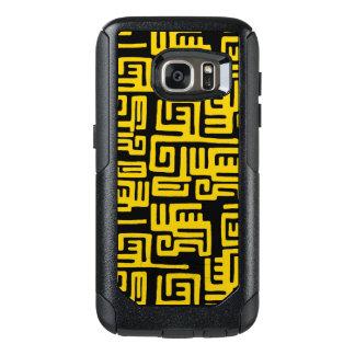 Minimaler gelber Schwarzafrikaner-Stammes- Muster OtterBox Samsung Galaxy S7 Hülle