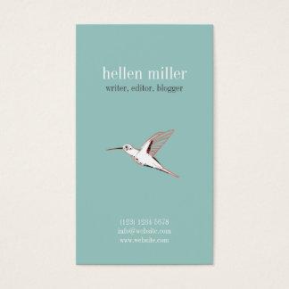 Minimaler Mint hummingbird elegant cute visit card Visitenkarte