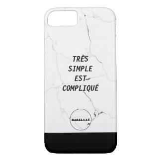Minimaler TRÈS EINFACHER EST COMPLIQUÉ iPhone 8/7 Hülle
