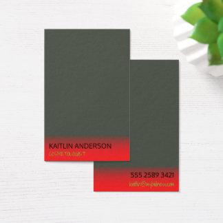 Minimales Holzkohlen-Elfenbein-roter Visitenkarte