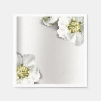 Minimales perliges weißes graues silbernes servietten
