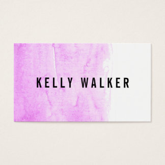 Minimales rosa und schwarzes Aquarell Visitenkarte