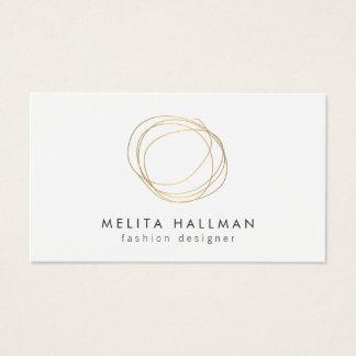 Minimales und modernes Golddesigner-Gekritzel-Logo Visitenkarten
