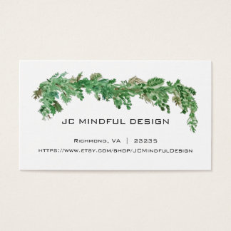 Minimales Visitenkarte-Grün-Thema Visitenkarte