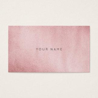 Minimalismus-einfarbiges Pulver-Rosa-Gold Vip Visitenkarten