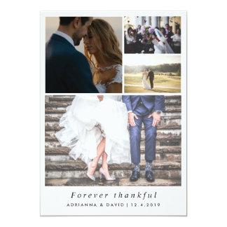 Minimalist-für immer dankbare Paar-Foto-Hochzeit 12,7 X 17,8 Cm Einladungskarte