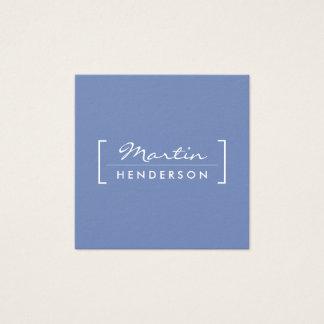 Minimalist/Klammer verschönert (Blau) Quadratische Visitenkarte