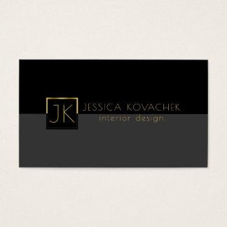 Minimalistic schwarze graue u. Innenarchitektur Visitenkarten