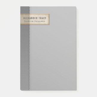 Minimalistic Zwei-Ton Grau Post-it Klebezettel