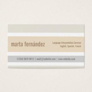 Minimalistische Karte Übersetzer Dolmetscher