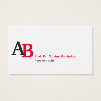 Minimalistisches Corporate Design Visitenkarte