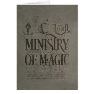 MINISTÈRE du charme   de Harry Potter de MAGIE Carte De Vœux